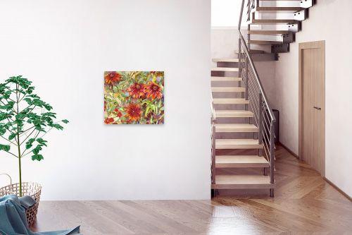 תמונה לבית - חיה וייט - חרציות אדומות - מק''ט: 213150