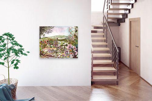 תמונה לבית - חיה וייט - פריחת דובדבן עם נוף - מק''ט: 213190