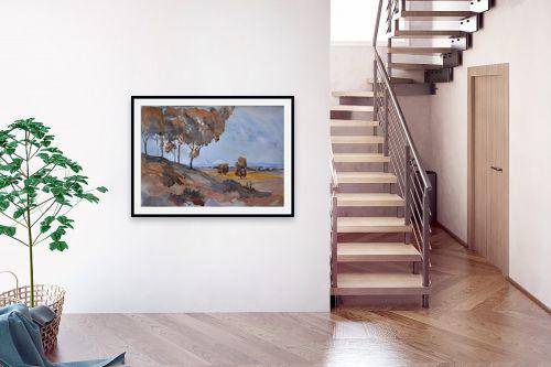 תמונה לבית - אורן יבנין - עצים כחולים - מק''ט: 257300