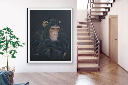 תמונה לבית - נריה ספיר - שימפנזה מהורהר - מק''ט: 259589