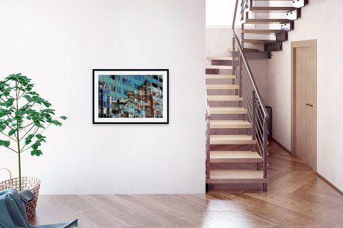 תמונה לבית - גורדון - נוף תל אביבי מופשט  - מק''ט: 263218