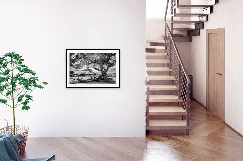 תמונה לבית - ארי בלטינשטר - שקיעה בשחור ולבן. - מק''ט: 279322