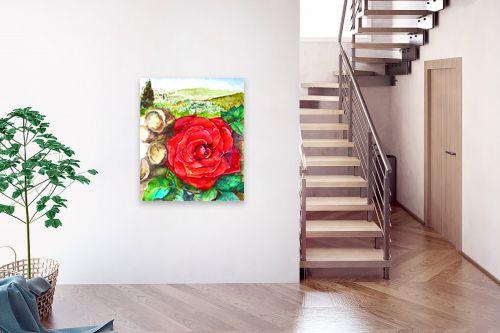 תמונה לבית - חיה וייט - ורד אדום - מק''ט: 285559