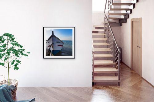 תמונה לבית - שי וייס - סירת דייג בחוף - מק''ט: 295239