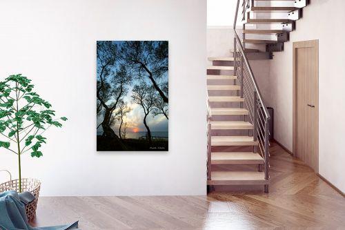 תמונה לבית - איזבלה אלקבץ - שקיעה בין העצים - מק''ט: 296231