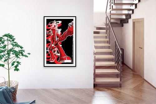 תמונה לבית - חנן אביסף - כוכב רוק אנד רול - אדום - מק''ט: 302745