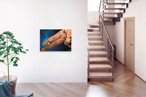 תמונה לבית - חנן אביסף - אצבעות מחזיקות סיגריה - מק''ט: 302948