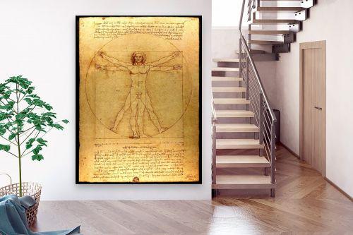 תמונה לבית - לאונרדו דה וינצי - האדם הוויטרובי - מק''ט: 303470