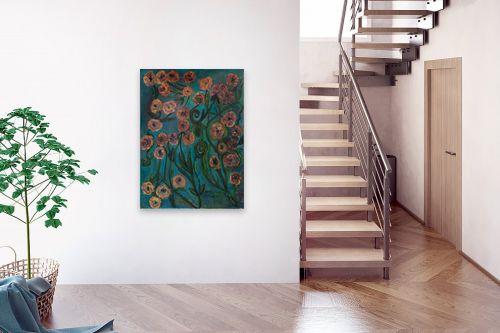 תמונה לבית - אסתר חן-ברזילי - פרחי זהב - מק''ט: 306124