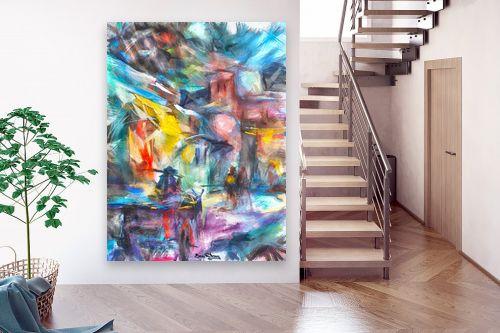 תמונה לבית - בן רוטמן - רייחות וצבעים בסימטאות - מק''ט: 307082