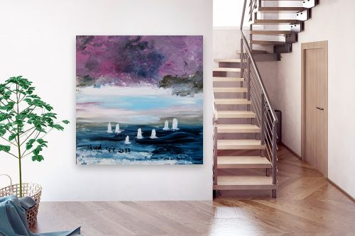 תמונה לבית - ורד אופיר - סירות בים - מק''ט: 308659