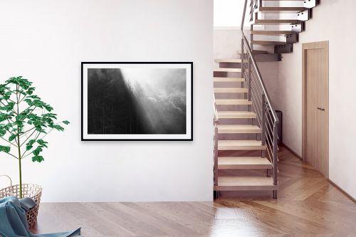 תמונה לבית - אורי לינסקיל - קרני שמש בערפל בוקר - מק''ט: 318235