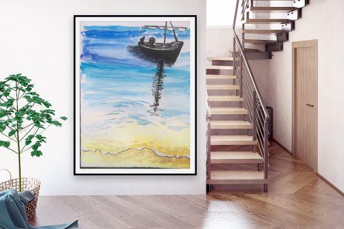 תמונה לבית - אילה ארויו - סירה בים - מק''ט: 320526