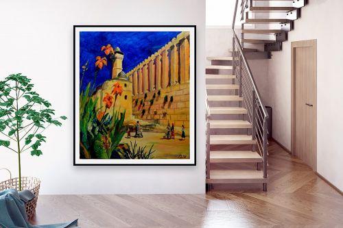 תמונה לבית - שמואל מושניק - פריחה במערת המכפלה - מק''ט: 330980