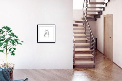 תמונה לבית - Artpicked - דמות בקו אחד - מק''ט: 331108