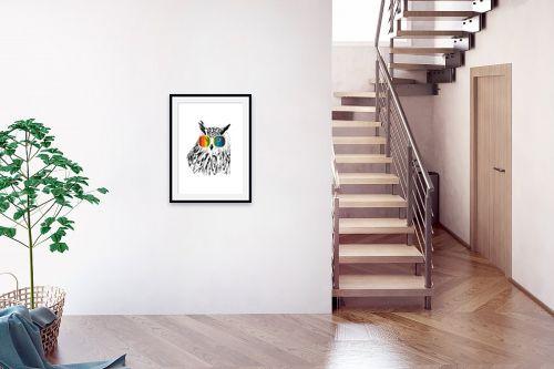 תמונה לבית - Artpicked - ינשוף במשקפיים - מק''ט: 331740