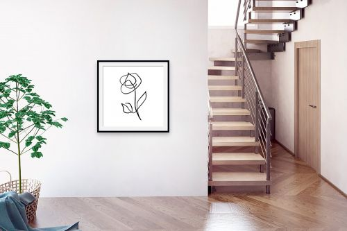 תמונה לבית - Artpicked - ורד בקו אחד - מק''ט: 331769