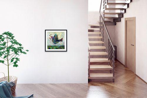 תמונה לבית - Artpicked - יונה עם עלה זית - מק''ט: 334718
