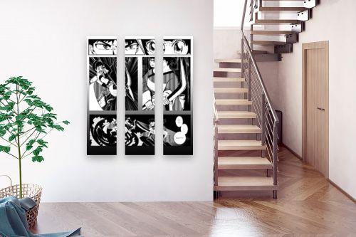 תמונה לבית - נעמי עיצובים - קומיקס שחור לבן - מק''ט: 334818