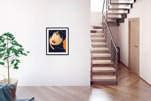 תמונה לבית - חנן אביסף - אישה שחורת שיער פופ ארט - מק''ט: 52072