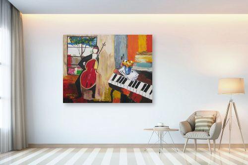 תמונה לבית - ורד אופיר - «אדם וכינור« - מק''ט: 112407