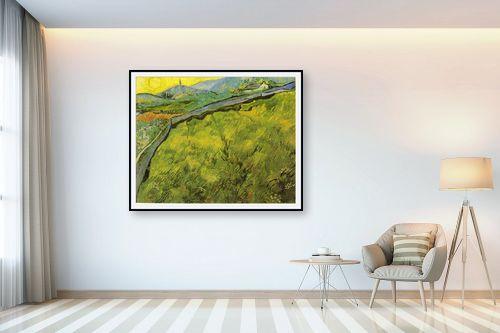 תמונה לבית - וינסנט ואן גוך -  green wheat fields - מק''ט: 115565