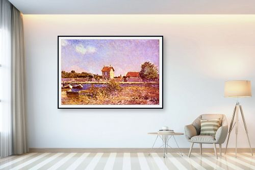 תמונה לבית - אלפרד סיסלי - Alfred Sisley 022 - מק''ט: 124889