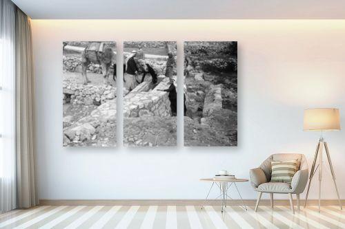 תמונה לבית - דוד לסלו סקלי - שוקת במעיין 1947 - עלאר - מק''ט: 142549