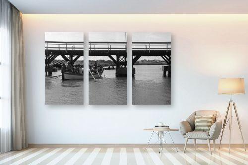 תמונה לבית - דוד לסלו סקלי - תל אביב 1939 סירות וגשר - מק''ט: 142921