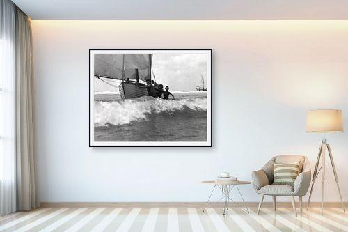 תמונה לבית - דוד לסלו סקלי - תל אביב 1939 נערים וסירה - מק''ט: 142953
