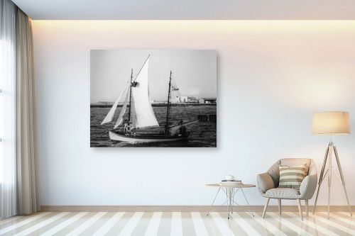 תמונה לבית - דוד לסלו סקלי - תל אביב 1939 סירת מפרש - מק''ט: 143083