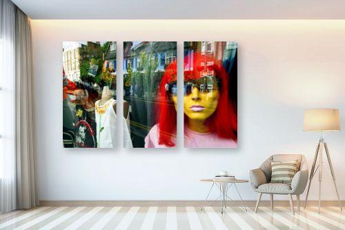 תמונה לבית - אורלי שטטינר - פאה אדומה בחלון - מק''ט: 145805