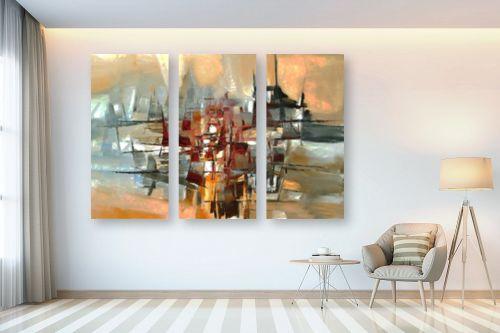 תמונה לבית - בן רוטמן - צללית של עיר בנהר - מק''ט: 149041