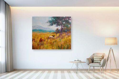 תמונה לבית - נטליה ברברניק - סוסים בשדה - מק''ט: 154999