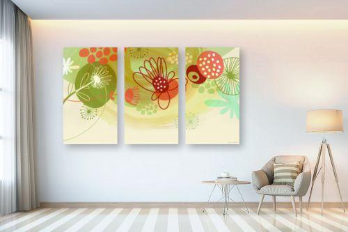 תמונה לבית - נעמי עיצובים - פרחים שמחים - מק''ט: 158930