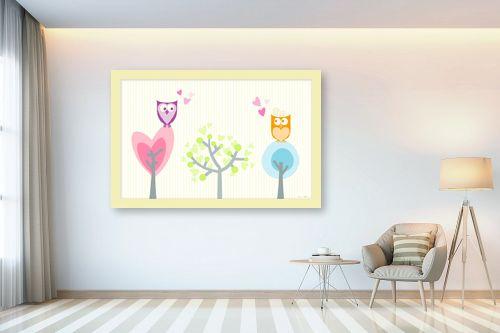 תמונה לבית - נעמי עיצובים - אהבת ינשופים - מק''ט: 162021
