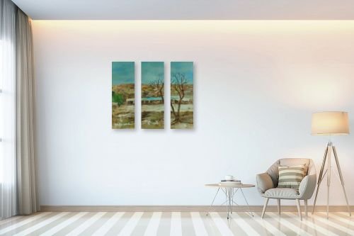 תמונה לבית - רינה יניב - עץ  בחורף - מק''ט: 169785