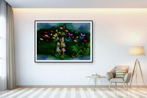 תמונה לבית - ענת אומנסקי - פרח פרפרים - מק''ט: 190512