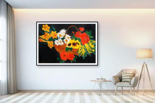 תמונה לבית - חנה כרמי - סלסלת פרחים - מק''ט: 194990