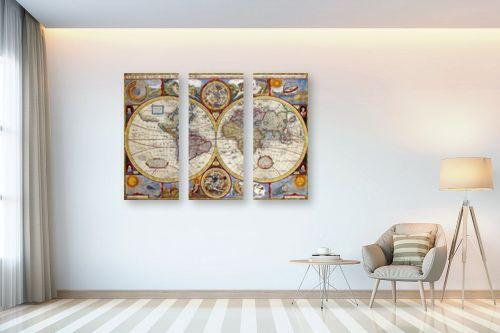 תמונה לבית - מפות העולם - מפת עולם עתיקה - מק''ט: 198961