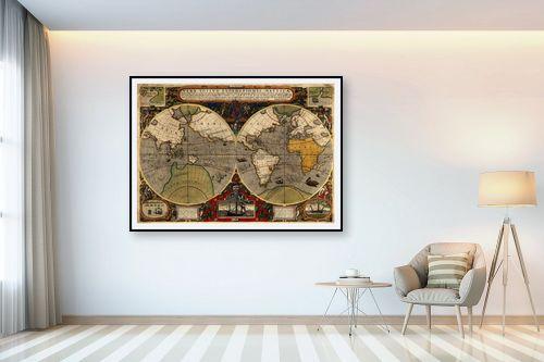 תמונה לבית - מפות העולם - Antique World Map - מק''ט: 198962