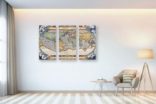 תמונה לבית - מפות העולם - מפה ישנה של העולם - מק''ט: 198963