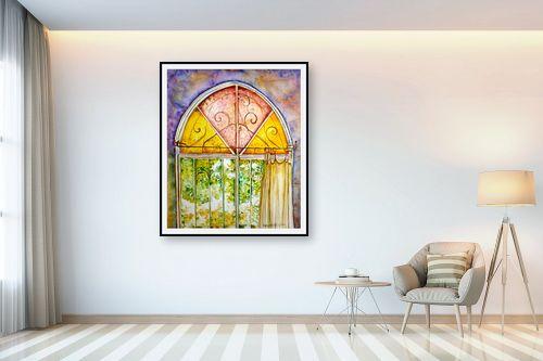 תמונה לבית - חיה וייט - חלון ירושלמי צבעוני - מק''ט: 213114