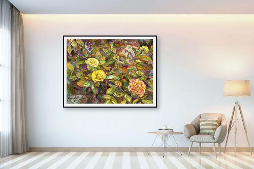 תמונה לבית - חיה וייט - ורדים צהובים - מק''ט: 213158