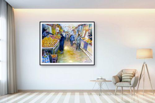 תמונה לבית - חיה וייט - קניות בשוק - מק''ט: 213214