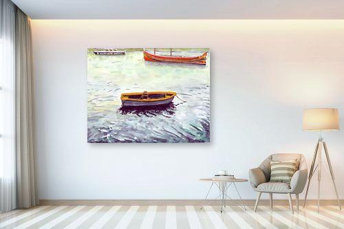 תמונה לבית - חיה וייט - סירות דייגים - מק''ט: 213274