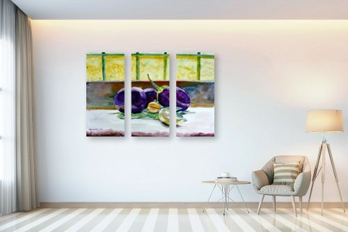 תמונה לבית - חיה וייט - חצילים על אדן חלון - מק''ט: 229881