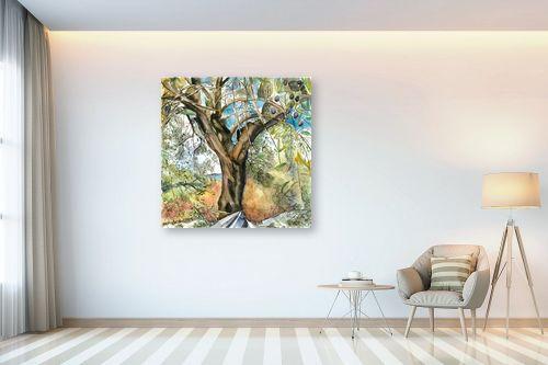 תמונה לבית - חיה וייט - עץ זית עתיק - מק''ט: 229911