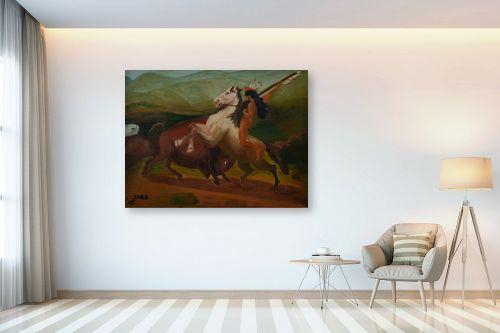 תמונה לבית - שרה וולקוב - אינדיאני על סוס - מק''ט: 236540