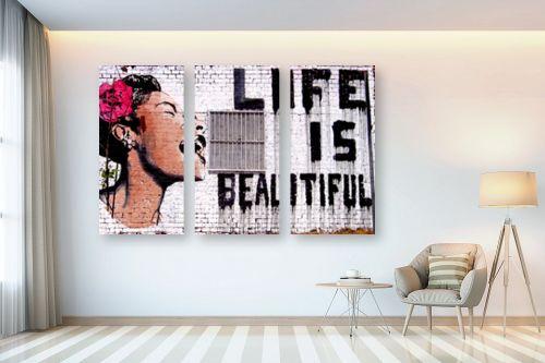 תמונה לבית - בנקסי - Life is beautyful - מק''ט: 240021